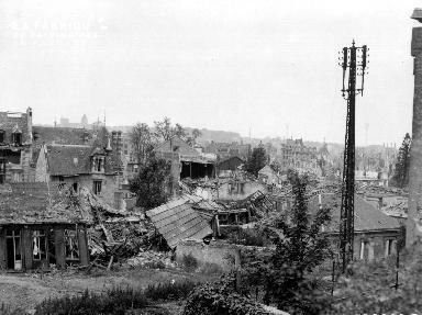 Caen, après les bombardements