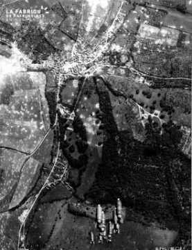 Vue aérienne de Bretteville-sur-Laize