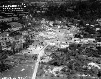 Vue aérienne des ruines de Saint-Jean-des-Baisants