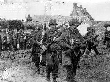 Soldats américains à Utah Beach