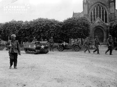 Troupe militaire à Sainte-Marie-du-Mont