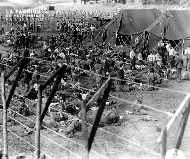 Camp de prisonniers allemands à Isigny-Sur-Mer