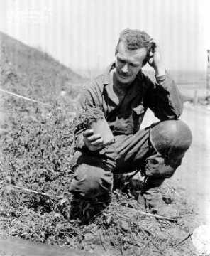 Déminage : portrait d'un soldat américain