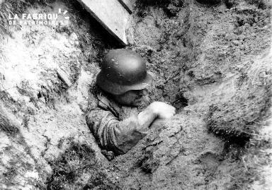 Soldat allemand enseveli