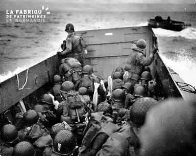 Arrivée des alliés à Omaha Beach