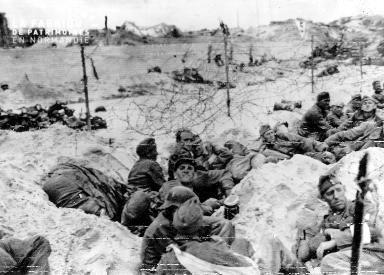 Prisonniers allemands sur la plage d'Utah