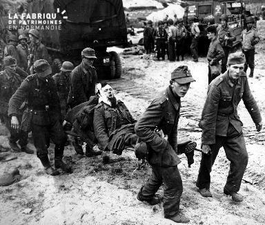Prisonniers allemands blessés