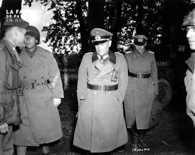 Major général Robert Sattler prisonnier