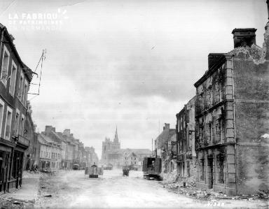 La Haye du Puits, maisons bombardées