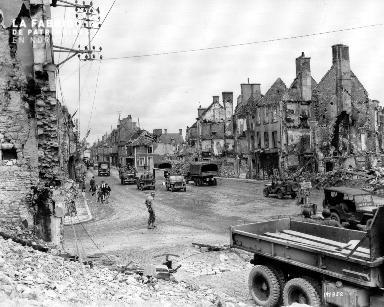 Isigny-sur-Mer, commune détruite par les bombardements