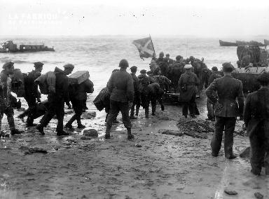 Sur une plage de Bretagne en 1944