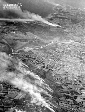 Vue aérienne des côtes du Cotentin