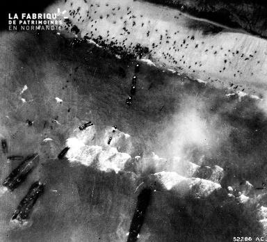 Vue aérienne des plages du Débarquement (secteur Utah Beach)