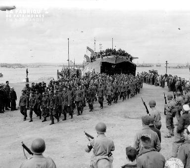Arrivée des prisonniers allemands au Royaume-Uni