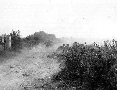 Scène de combat à Fourcaville (pièce d'artillerie)