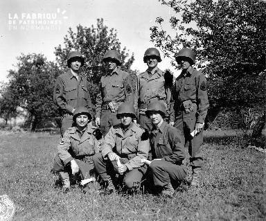 Portrait de groupe de soldats américains