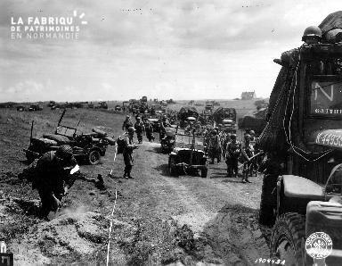Progression des troupes américaines le 6 juin 1944 (secteur Utah Beach)