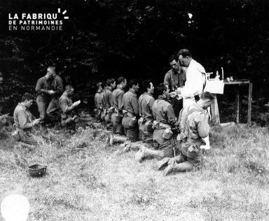 Communion des soldats américains