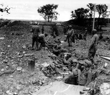 Tranchée allemande occupée par des soldats américains (bunker)