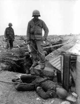 Soldats américains à Cherbourg