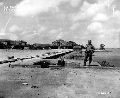 Hangars détruits (base aéronavale de Chantereyne) à Cherbourg