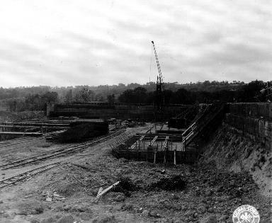 Base de lancement de V2 en construction