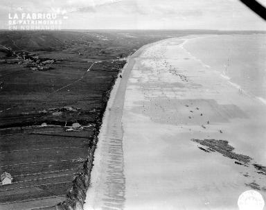 Vue aérienne de Vauville
