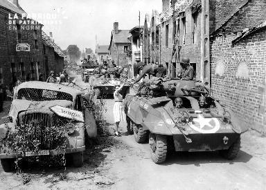 Troupes militaires à Folligny