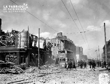 Quartier en ruines après des bombardements