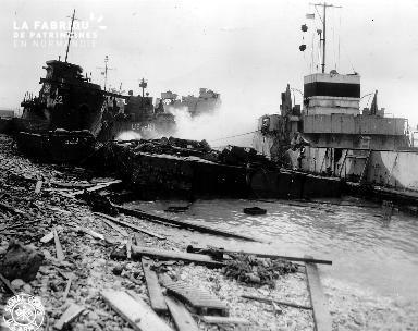 Secteur Omaha beach, tempête du 19 au 21 juin 1944