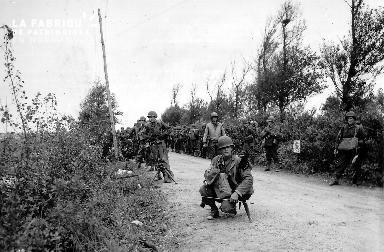 Soldats américains dans le secteur Utah Beach