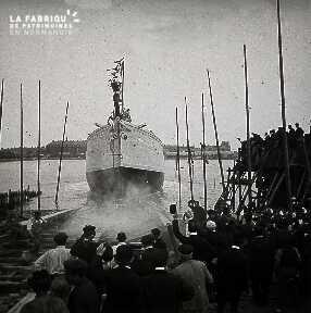 Saint Malo Le lancement du Pourquoi Pas