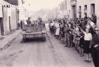 Acclamation de la 1ere DB polonaise à Chambois