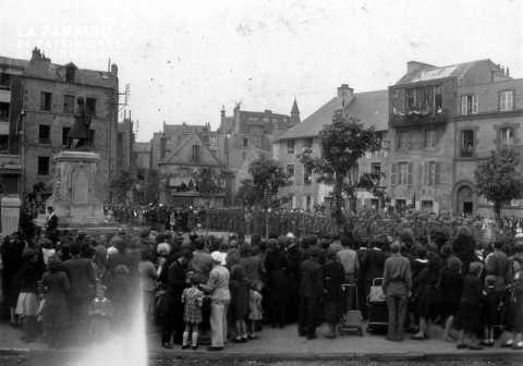 Cérémonie de la libération à Granville