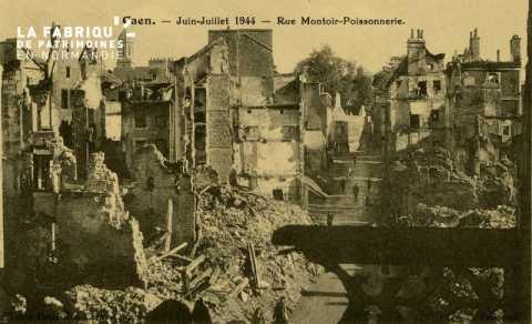 Caen- Juin,Juillet 1944 -Rue Montoir - Poissonnerie