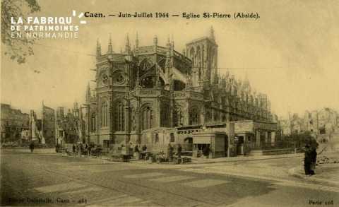 Caen- Juin,Juillet 1944 -Eglise St-Pierre