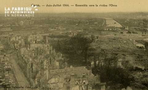 Caen Juin,Juillet 1944- Ensemble sur la rivière l'Orne