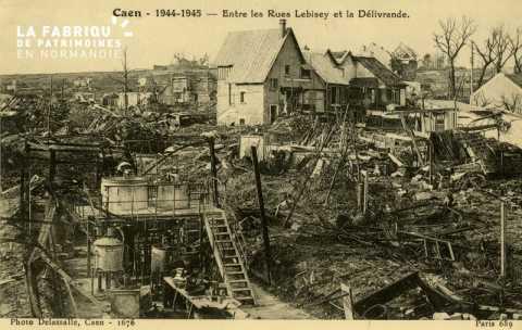Caen Juin,Juillet 1944- Entre les rues Lebisey et la délivrande