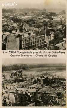 Caen- Vue Générale prise du Clocher St-Pierre- Quartier St-Pierre Champs de Course
