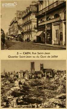 Caen -Vue St-Jean Quartier St-Jean, vue du Quai de juillet