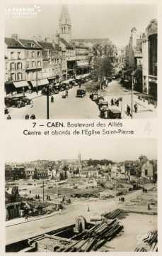 Caen- Boulevard des Alliées- Abord et centre de l'Eglise St-Pierre