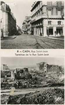 Caen-  Rue St-Jean et terminus de la Rue St-Jean