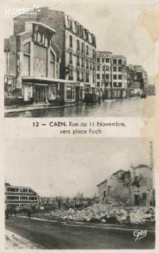 Caen Rue du 11 Novembre vers la place Foch