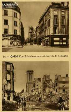 Caen - Rue St-Jean aux abords de la Gavotte