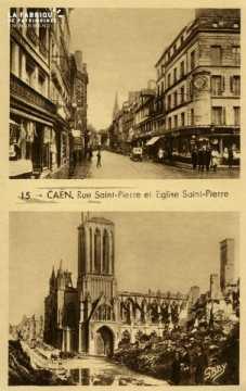 Caen Rue et église St-Pierre