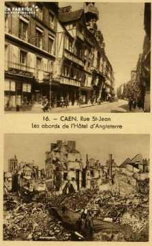 Caen Rue St-jean, les abords de l'Hotel d'Angleterre