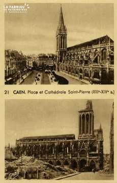 Caen -Place et Cathédrale St-Pierre