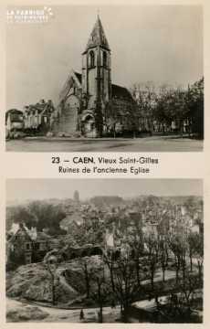 Caen- vieux St-Gilles, ruines de l'anncienne église