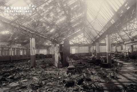 Caen detruit_1944_hangar courrier normand_rue du Carel