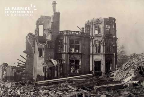 Caen detruit_1944_ruines Maison de Bras_37, rue Guilbert